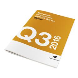 Encuesta sobre el panorama laboral realizada por Manpower Q3 2016